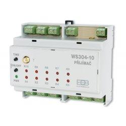 Bezprzewodowy włącznik Elektrobock WS304-10 na listwę DIN 10 kanałowy