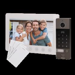 Wideodomofon przewodowy ORNO NUMERUS OR-VID-EG-1052/W 7˝ z czytnikiem breloków i kart oraz szyfratorem