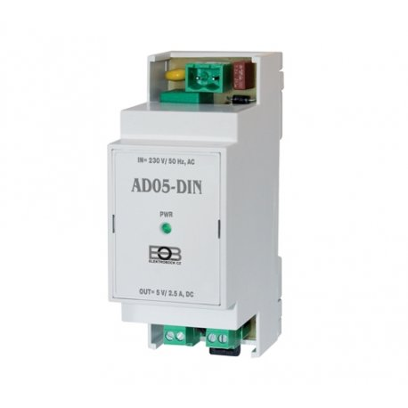 Zasilacz na listwę DIN Elektrobock AD05-DIN - 5 V, 2,5 A