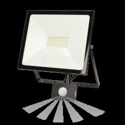 Naświetlacz LEDO LED 50 W ORNO OR-NL-6082BLR4 z czujnikiem ruchu, 4000lm - czarny