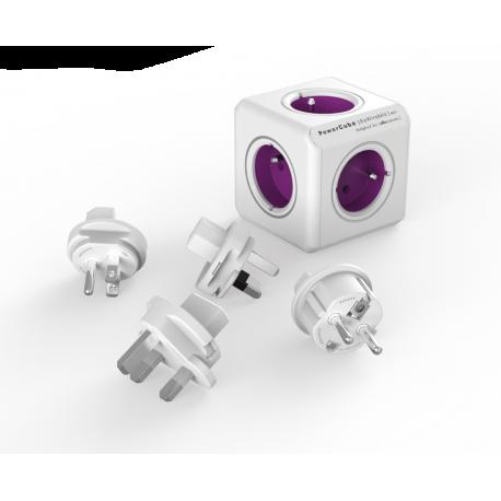 Rozgałęźnik PowerCube ReWirable z wtyczkami podróżnymi - 4 x 230 V