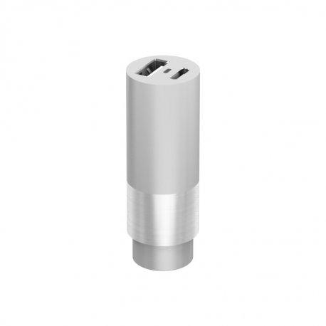 Ładowarka samochodowa CarCharger USB-C silver 3,4 A aluminiowa
