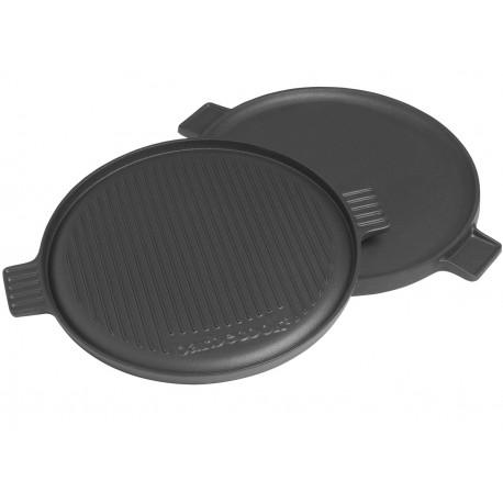 Płyta żeliwna okrągła Barbecook do grillowania i smażenia - średnica 35 cm