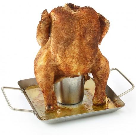 Stojak do pieczenia kurczaka na grillu Barbecook - nierdzewny