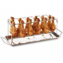 Stojak do pieczenia podudzi na grillu Barbecook - nierdzewny