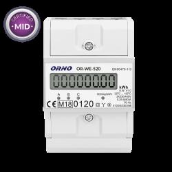 Licznik zużycia energii elektrycznej 3-fazowy 80 A ORNO OR-WE-520- certyfikat MID