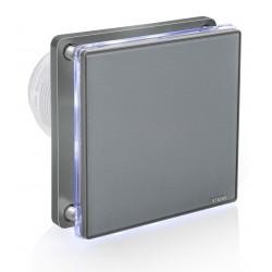 Wentylator łazienkowy STERR BFS100L-G kolor szary z podświetleniem LED