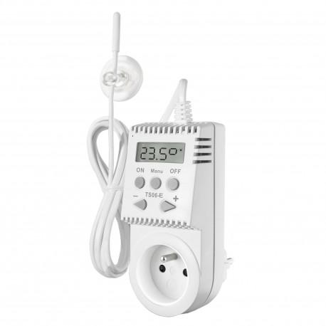 Termostat gniazdkowy Elektrobock TS06-E - z zewnętrznym czujnikiem, bez programatora