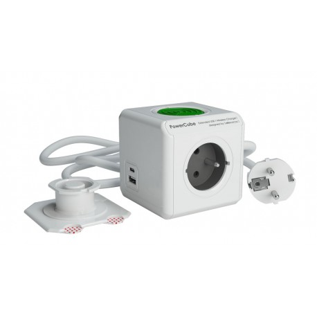 Przedłużacz modułowy PowerCube Extended z USB A+C WirelessCharger 1,5 m
