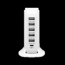 Stacja ładująca - 5 portów USB + 1 port USB-C ORNO OR-AE-13143
