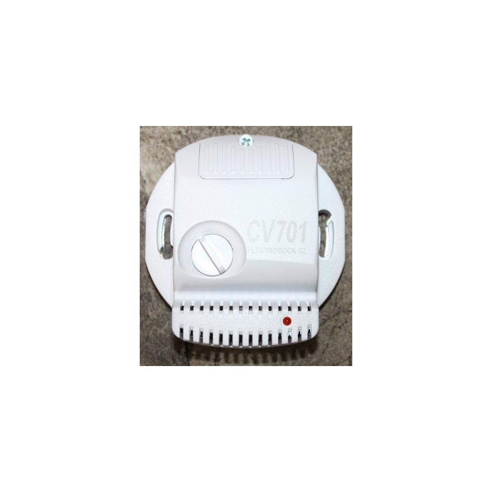 Wilgotnościomierz Do łazienki Elektrobock Cv701 Załączający Wentylator Czujnik Wilgoci Do łazienki Elektrobock Cv701