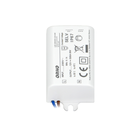 Zasilacz do LED 12 V ORNO OR-ZL-1630 MINI, 6W, IP67