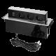 Gniazdo meblowe wysuwane z blatu 3 x 230 V + 2 x USB ORNO OR-GM-9009/B-G, przewód 2 m, INOX