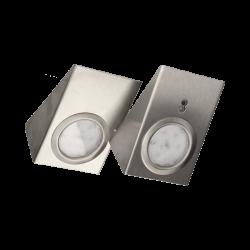 Oprawy podszafkowe LED 2 szt. z włącznikiem bezdotykowym ORNO OR-AE-13118 nierdzewne