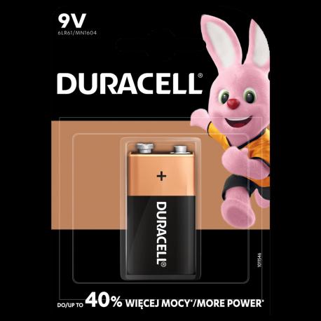 Bateria Duracell 9 V / K1 / 6F22 - alkaliczna - 1 szt.