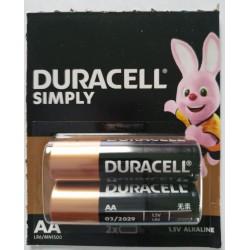 Baterie Duracell AA / LR6 / 1,5 V - alkaliczne - 2 szt.