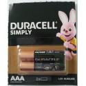 Baterie Duracell AAA / LR03 / 1,5 V - alkaliczne - 2 szt.