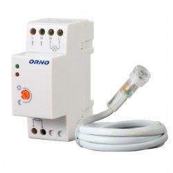 Czujnik zmierzchowy ORNO OR-CR-219 na szynę DIN z zewnętrzną sondą, od 2 do 100 lux, IP65