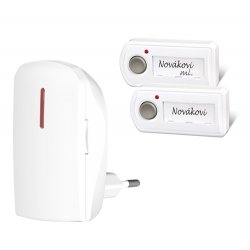 Bezprzewodowy dzwonek Elektrobock BZ11-12 - 2 nadajniki