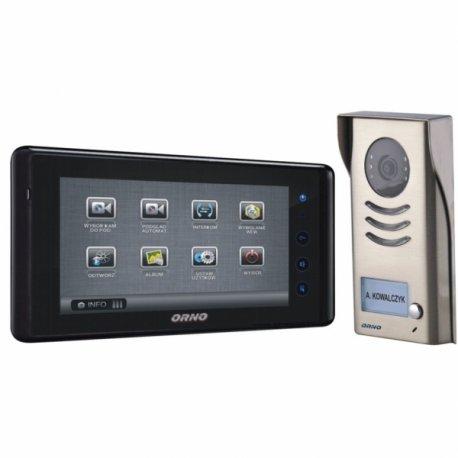 Videodomofon przewodowy ORNO MURI 7˝ - natynkowy, dotykowy - OR-VID-VT-1013