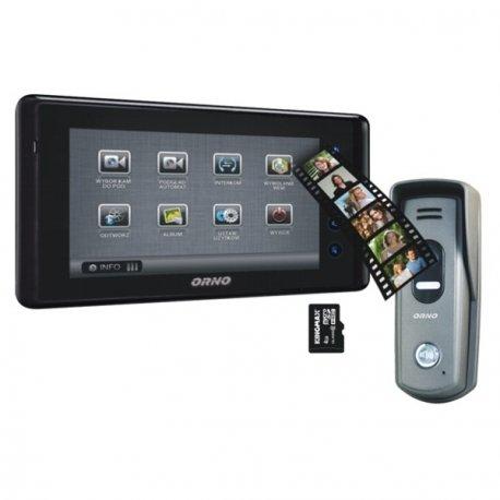 Videodomofon przewo/dowy ORNO DEFENSA MEMO 7˝ - dotykowy, natynkowy - OR-VID-VT-1030