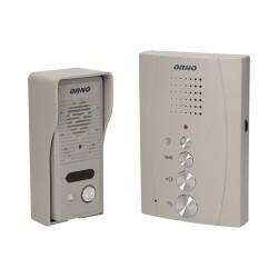 Domofon jednorodzinny głośnomówiący, natynkowy ORNO ELUVIO OR-DOM-RE-914/G, szary