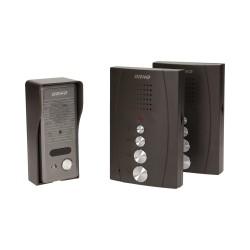 Domofon jednorodzinny głośnomówiący z interkomem, natynkowy ORNO ELUVIO INTERCOM OR-DOM-RE-920/B, czarny