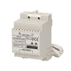 Zasilacz na szynę DIN 18VDC/650mA do domofonów z serii ORNO SAGITTA ORNO OR-DOM-SG-918ZD
