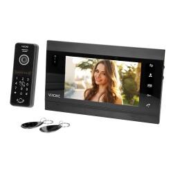 Wideodomofon przewodowy ViRONE VIFIS VDP-61 7˝z Wi-Fi, czytnikiem breloków i kart oraz szyfratorem