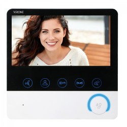 """Kolorowy wideo monitor 7"""" do rozbudowy systemów CETI, z funkcją intekom oraz z możliwością sterowania bramą i nagrywania"""