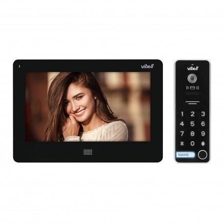 """Zestaw wideodomofonowy, bezsłuchawkowy kolor, LCD 7"""", dotykowy, menu OSD, pamięć, gniazdo na kartę SD, DVR, sterowanie bramą, z"""