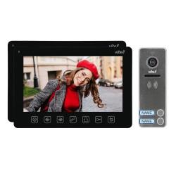 """Zestaw wideodomofonowy 2-rodzinny, bezsłuchawkowy, kolor, LCD 7"""", menu OSD, sterowanie bramą, czarny NOVEO MULTI2 Orno"""