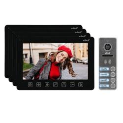 """Zestaw wideodomofonowy 4-rodzinny, bezsłuchawkowy, kolor, LCD 7"""", menu OSD, sterowanie bramą, czarny NOVEO MULTI4 Orno"""