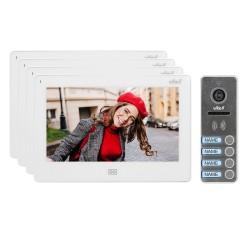 """Zestaw wideodomofonowy 4-rodzinny, bezsłuchawkowy kolor, LCD 7"""", dotykowy, menu OSD, pamięć, gniazdo na kartę SD, DVR,"""