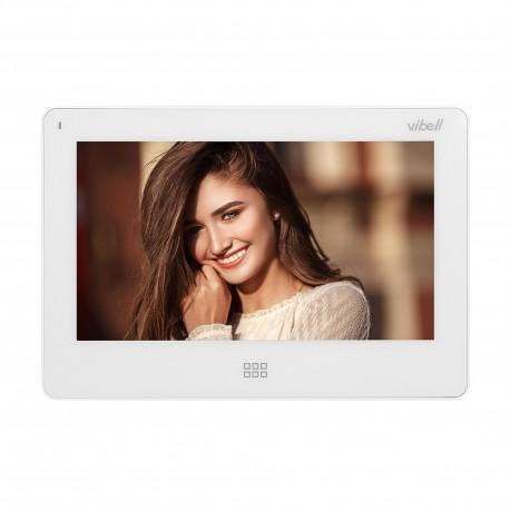 """Wideo monitor bezsłuchawkowy, kolorowy, LCD 7"""", do zastosowania w systemach VIBELL, dotykowy ekran, moduł pamięci, gniazdo na"""