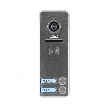Wideo kaseta 2-rodzinna z kamerą szerokokątną, kolor, wandaloodporna, diody LED, do zastosowania w systemach VIBELL Orno