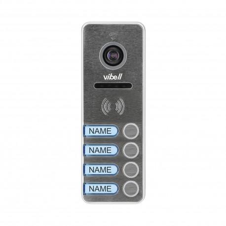 Wideo kaseta 4-rodzinna z kamerą szerokokątną, kolor, wandaloodporna, diody LED, do zastosowania w systemach VIBELL Orno