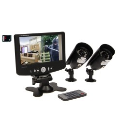 "System monitoringu 2-kanałowy, przewodowy CCTV, monitor LCD 7"" ORNO OR-MT-JX-1802"