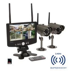 """System monitoringu 4-kanałowy, bezprzewodowy CCTV, monitor LCD 7"""" ORNO OR-MT-JE-1801"""