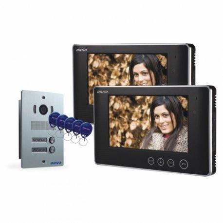 Dwurodzinny wideodomofon przewodowy ORNO ARX MULTI P 7˝ - podtynkowy, dotykowy - OR-VID-VP-2006
