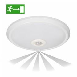 Plafon LED EMERGENCY ORNO ZONDA OR-PL-391WLPMR4 12W/1,2W z czujnikiem ruchu i zmierzchu