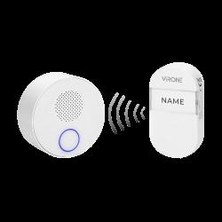 Dzwonek bezprzewodowy SONUS AC, sieciowy, przycisk bezbateryjny, learning system, 38 dźwięków, 100m Orno DB-2