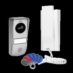 Domofon jednorodzinny z czytnikiem kart i breloków zbliżeniowych ORNO MIZAR OR-DOM-AT-929/W, biały
