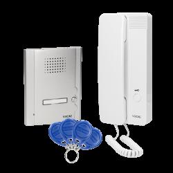 Zestaw domofonowy jednorodzinny, podtynkowy z czytnikiem breloków zbliżeniowych, MALO Orno DP-14