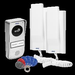 Domofon dwurodzinny z czytnikiem kart i breloków zbliżeniowych ORNO MIZAR OR-DOM-AT-930/W, biały