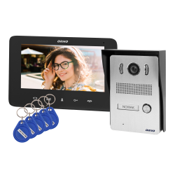 Wideodomofon przewodowy ORNO INDI N OR-VID-VP-1069/B 7˝z czytnikiem breloków i kart zbliżeniowych