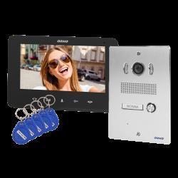 Wideodomofon przewodowy ORNO INDI P OR-VID-VP-1070/B 7˝z czytnikiem breloków i kart zbliżeniowych - podtynkowy