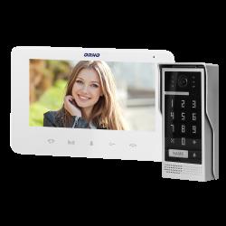 Wideodomofon przewodowy ORNO SCUTI OR-VID-VP-1073/W 7˝z szyfratorem - biały