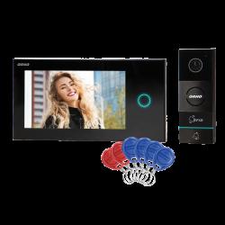 Wideodomofon przewodowy ORNO APPOS OR-VID-WI-1068/B 7˝, sterowanie Wi-Fi, czytnik breloków i kart zbliżeniowych
