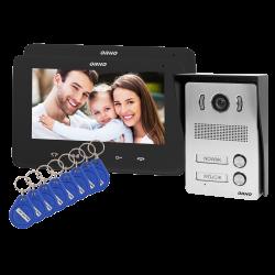 Wideodomofon dwurodzinny ORNO INDI MULTI N OR-VID-VP-1071/B 7˝z czytnikiem breloków i kart zbliżeniowych